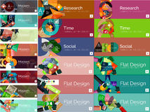 Mega collection of flat web infographic concepts Royalty Free Stock Image
