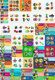 Mega collection of flat web infographics Royalty Free Stock Image