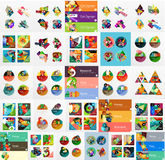 Mega collection of flat web infographics Stock Image