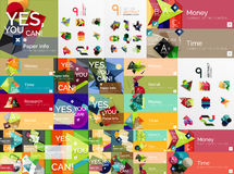 Mega collection of flat web infographics Stock Photography