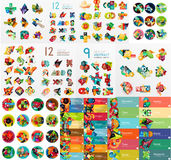 Mega collection of flat web infographics Stock Photo