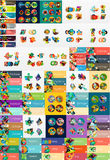 Mega collection of flat web infographics Royalty Free Stock Photo