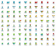 Mega collection of futuristic abstract business logo icons. Mega collection of 100 futuristic abstract business logo icons vector illustration