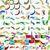 Mega collection of geometric abstract backgrounds Royalty Free Stock Image