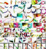 Mega collection of geometric abstract backgrounds Royalty Free Stock Photos