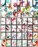 Mega collection of geometric shape abstract Royalty Free Stock Images