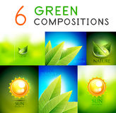 Mega collection of green summer concepts Stock Images
