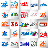 Mega Collection Happy new year 2014. Text Design vector illustration