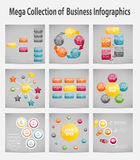 Mega collection infographic template business Royalty Free Stock Image