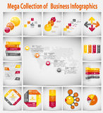 Mega collection infographic template business Stock Photos