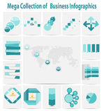 Mega collection infographic template business concept vector ill Royalty Free Stock Photo