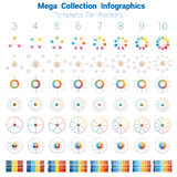 Mega Collection Infographics cyclic processes Royalty Free Stock Photos