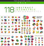 Mega collection of infographics Royalty Free Stock Image