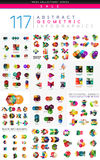 Mega collection of infographics Stock Photo