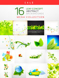 Mega collection of leaf abstract backgrounds. Mega collection of leaf concept nature abstract backgrounds Royalty Free Stock Photo