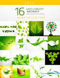 Mega collection of leaf abstract backgrounds Stock Photography