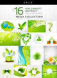 Mega collection of leaf abstract backgrounds Stock Images