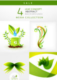 Mega collection of leaf abstract backgrounds Royalty Free Stock Photos