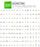 Mega collection of letter logo icons Royalty Free Stock Photo