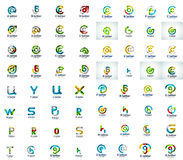 Mega collection of letter logo icons Royalty Free Stock Image