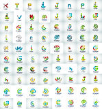 Mega collection of letter logo icons Royalty Free Stock Images