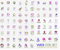 Mega collection of line design web logo icons Royalty Free Stock Images