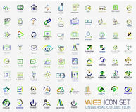 Mega collection of line design web logo icons. Vector icon set Stock Photos