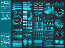 Mega Collection and Mega Set Infographic Elements Vector Design Royalty Free Stock Image