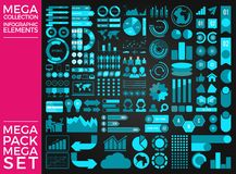 Mega Collection and Mega Set Infographic Elements Vector Design. Eps 10 Stock Image