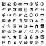 Mega collection of outline shopping icons. Online Royalty Free Stock Photography