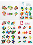 Mega collection of paper graphic banners, labels Stock Images