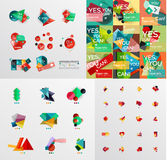 Mega collection of paper graphic banners, labels Stock Photos