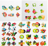 Mega collection of paper graphic banners, labels Royalty Free Stock Images