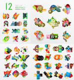 Mega collection of paper graphic banners, labels Royalty Free Stock Image