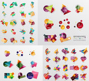 Mega collection of paper graphic banners, labels Stock Photo