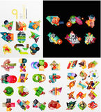 Mega collection of paper graphic banners, labels Stock Image