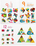 Mega collection of paper graphic banners, labels Royalty Free Stock Photos