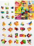 Mega collection of paper graphic banners, labels Royalty Free Stock Photography