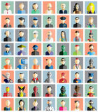 MEGA COLLECTION 56 OF PEOPLE ICONS FLAT AVATAR. Mega collection 56 people flat style for web stock illustration