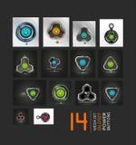 Mega collection of power buttons - vector icons Stock Photos