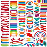 Mega collection of retro ribbons and labels Royalty Free Stock Image