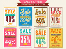Mega collection of Sale Flyers. Stock Images