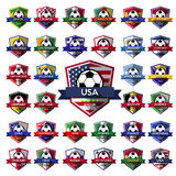 Mega Collection of soccer ( football ) badge Stock Photo