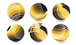 Mega Collection Of Sphere circle logos, global elements business company and abstract corporation Rounded Icon Symbol Vector Royalty Free Stock Photo