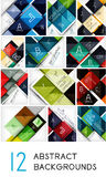 Mega collection of square abstract background Royalty Free Stock Photos