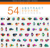 Mega collection of 54 square geometrical web banners Royalty Free Stock Photography