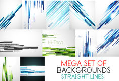 Mega collection of straight lines backgrounds Stock Images