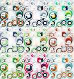 Mega collection of swirl, circle abstract Royalty Free Stock Image
