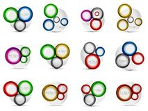 Mega collection of swirls and circles geometric abstract backgrounds, posters Royalty Free Stock Photography