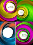 Mega collection of swirls and circles geometric abstract backgrounds, posters Stock Photography